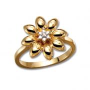 Solitaire bloem ring 0.05 karaat F VVS2 - diamanten