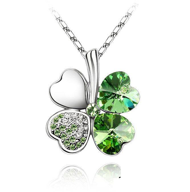 Ketting Clover Green - Swarovski Elements