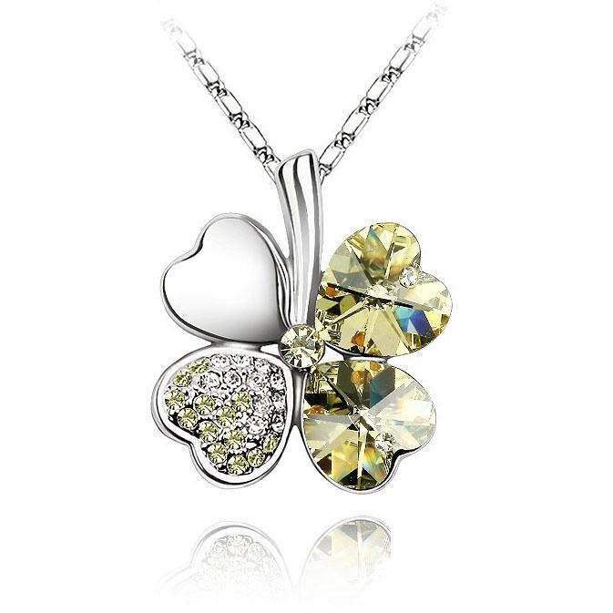 Ketting Clover Yellow - Swarovski Elements